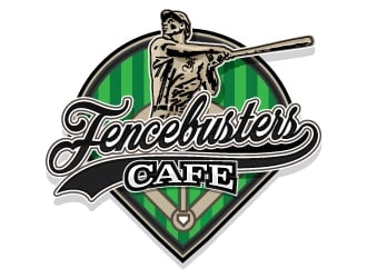FENCEBUSTERS CAFE logo design