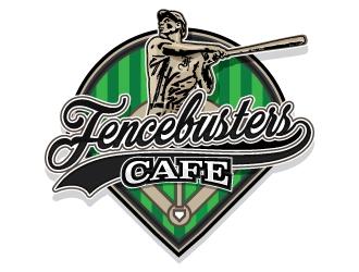 FENCEBUSTERS CAFE logo design