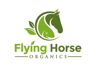 Flying Horse Organics logo design