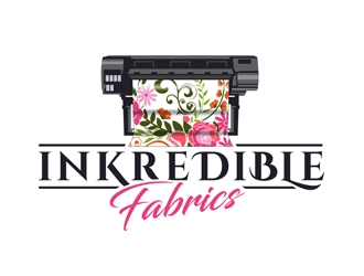 Inkredible Fabrics logo design