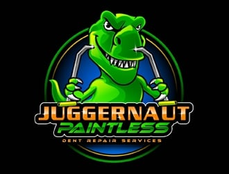 JUGGERNAUT Paintless Dent Repair Services logo design