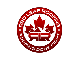 Red Leaf Roofing logo design