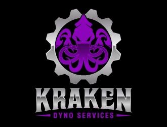 Kraken Dyno Services logo design