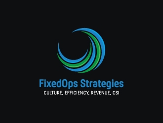 FixedOps Strategies logo design