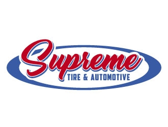 Supreme Tire & Automotive logo design