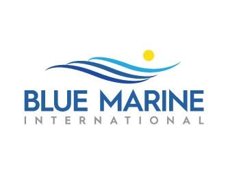 Blue Marine International logo design
