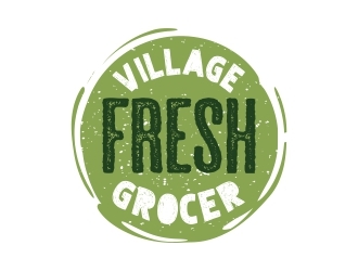 Village Fresh Grocer logo design