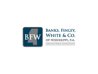 Banks, Finley, White & Co. of Mississippi, P.A.   Certified Public Accountants logo design
