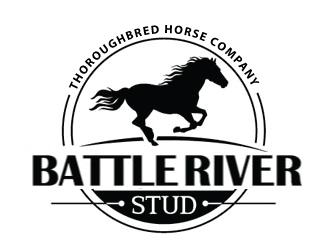 Battle River Stud logo design