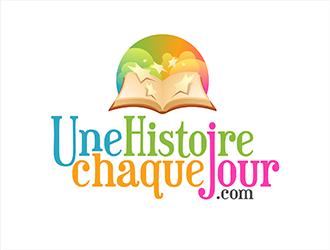 Une histoire chaque jour .com logo design