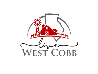 Live West Cobb logo design