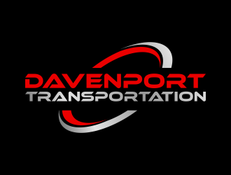 DAVENPORT TRANSPORTATION  logo design