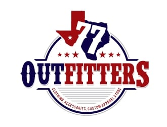 77 Outfitters logo design