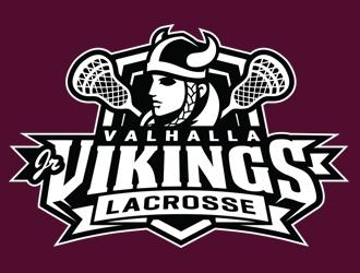 Valhalla Jr. Vikings Lacrosse logo design