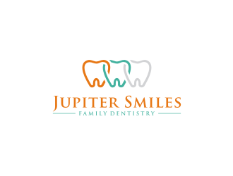 Jupiter Smiles Family Dentistry logo design