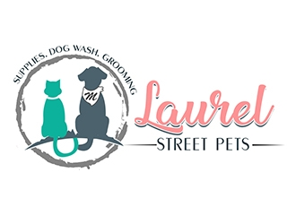 Laurel Street Pets logo design