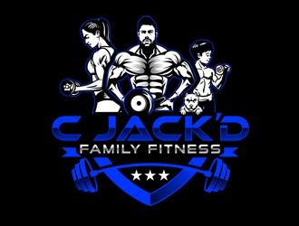 C JackD Family Fitness logo design