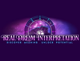 Real Dream Interpretation/ tagline:  Discover meaning.  Unlock potential logo design