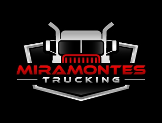 Miramontes Trucking logo design