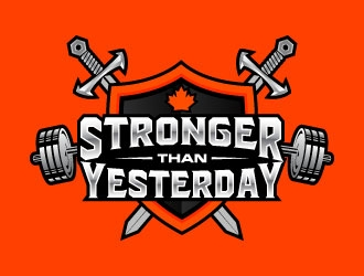 Stronger Than Yesterday logo design