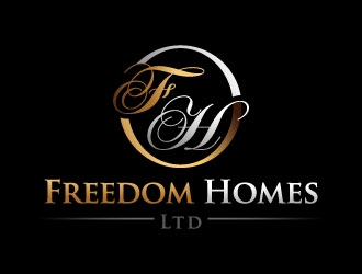 Freedom Homes Ltd logo design