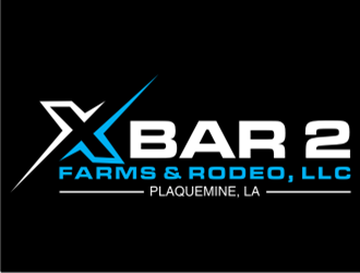X Bar 2 Farms & Rodeo, LLC   Plaquemine, LA logo design