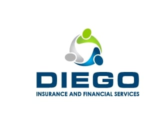 Diego Insurance and Financial Services logo design