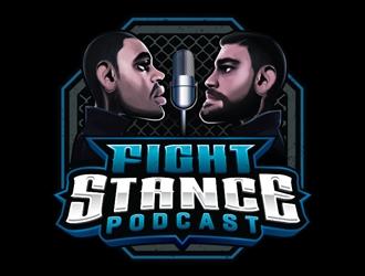Fight Stance Podcast logo design