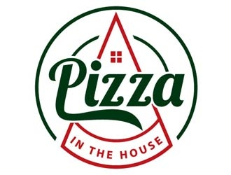 Pizza in the House logo design
