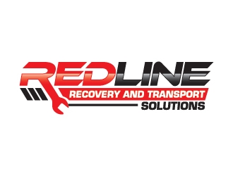 Redline recovery and transport solutions logo design