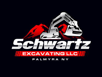 schwartz excavating llc logo design