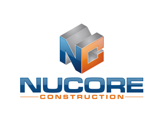 Nucore Construction logo design