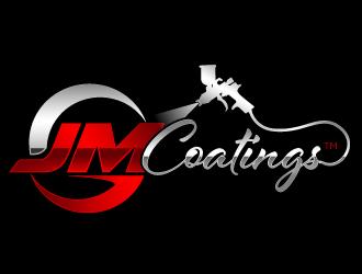 JM Coatings logo design
