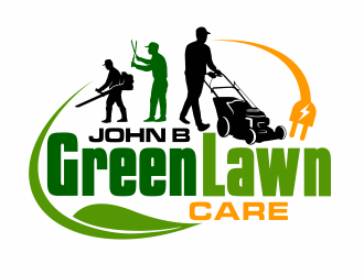 John B Green Lawn Care logo design