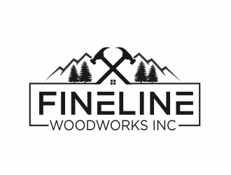 Fineline woodworks inc. logo design