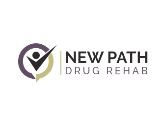 NEW PATH DRUG REHAB logo design