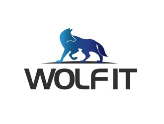 Wolf IT logo design