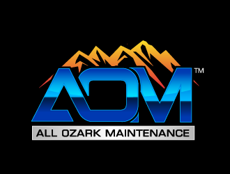 All Ozark Maintenance logo design