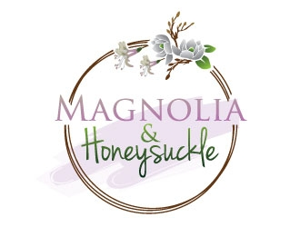 Magnolia and Honeysuckle logo design