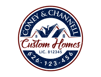 Coney and Channell custom homes  logo design