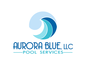 Aurora Blue, LLC logo design