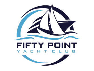 Fifty Point Yacht Club logo design