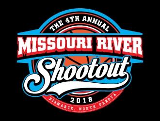 The 4th Annual Missouri River Shootout 2018 logo design