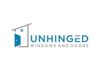 Unhinged windows and doors logo design
