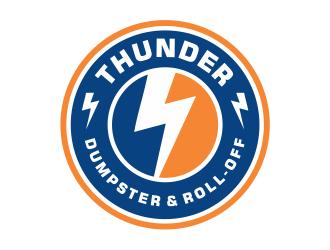 Thunder Dumpster & Roll-off logo design