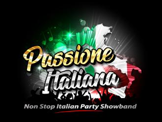 PASSIONE ITALIANA -   tag line: Non Stop Italian Party Showband logo design