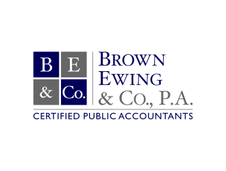 Brown, Ewing & Co., P.A.        Certified Public Accountants logo design