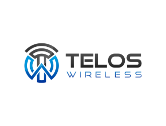 Telos Wireless logo design