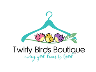 Twirly Birds Boutique logo design