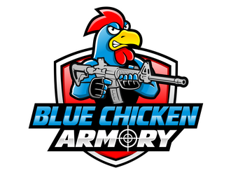 Blue Chicken Armory logo design